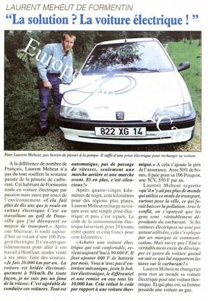 laurent meheut et sa voiture electrique